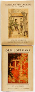 Books:Americana & American History, Lyle Saxon. SIGNED. Old Louisiana [and:] Fabulous NewOrleans. New York: D. Appleton, [1929, 1939]. Fabulo...(Total: 2 Items)