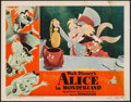 "Movie Posters:Animation, Alice in Wonderland (RKO, 1951). Lobby Card (11"" X 14""). Animation.. ..."