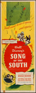 "Movie Posters:Animation, Song of the South (RKO, 1946). Insert (14"" X 36""). Animation.. ..."