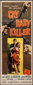 "Movie Posters:Crime, Cry Baby Killer (Allied Artists, 1958). Insert (14"" X 36""). Crime.. ..."
