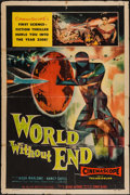 """Movie Posters:Science Fiction, World Without End (Allied Artists, 1956). One Sheet (27"""" X 41"""").Science Fiction.. ..."""