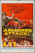 "Movie Posters:War, Armored Attack & Other Lot (NTA, 1957). One Sheets (2) (27"" X41""). War.. ... (Total: 2 Items)"