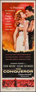 "Movie Posters:Action, The Conqueror (RKO, 1956). Insert (14"" X 36""). Action.. ..."