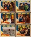 """Movie Posters:War, The Invaders (Columbia, 1941). Lobby Cards (6) (11"""" X 14""""). War..... (Total: 6 Items)"""