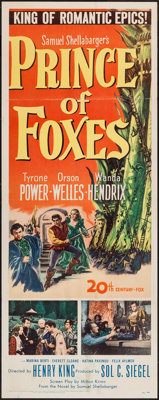 "Prince of Foxes (20th Century Fox, 1949). Insert (14"" X 36""). Adventure"