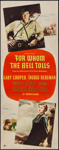 """Movie Posters:War, For Whom the Bell Tolls (Paramount, 1943). Insert (14"""" X 36"""").War.. ..."""