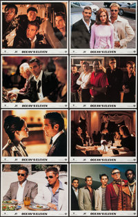 "Ocean's Eleven & Other Lot (Warner Brothers, 2001). International Lobby Card Sets of 8 (2) (11"" X 14""). Cr..."