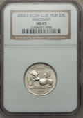 Statehood Quarters, 2004-D 25C Wisconsin Extra Leaf High MS65 NGC. NGC Census: (17/24). PCGS Population (841/160). Numismedia Wsl. Price for p...