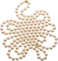 Estate Jewelry:Necklaces, Cultured Pearl, Diamond, Gold Necklaces. ...