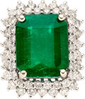 Estate Jewelry:Rings, Colombian Emerald, Diamond, White Gold Ring. ... (Total: 2 Items)