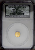 California Fractional Gold: , 1867 25C Liberty Round 25 Cents, BG-825, R.4, --ImproperlyCleaned--NCS. UNC Details. PCGS Population (3...