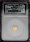 California Fractional Gold: , 1870 25C Liberty Round 25 Cents, BG-835, R.3, --Mount Removed,Obverse Scratched--NCS. AU Details. PCGS ...