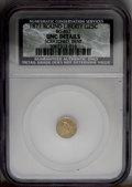 California Fractional Gold: , 1871 25C Liberty Round 25 Cents, BG-857, High R.4, --Bent,Lamination, Scratched--NCS. UNC Details. PCGS...