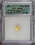 California Fractional Gold: , 1880/76 25C Indian Round 25 Cents, BG-885, R.3, MS61 ICG. PCGSPopulation (5/143). (#10746)...