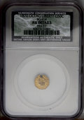 California Fractional Gold: , 1872 50C Liberty Octagonal 50 Cents, BG-914, R.4, --Holed--NCS. AUDetails. PCGS Population (2/65). (#10...