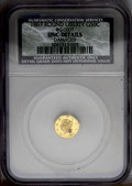 California Fractional Gold: , 1867 50C Liberty Round 50 Cents, BG-1007, High R.4, --Damaged--NCS.UNC Details. PCGS Population (3/41)....