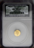California Fractional Gold: , 1880/70 50C Indian Round 50 Cents, BG-1067, Low R.4,--Scratched--NCS. UNC Details. PCGS Population (0/7...