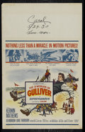 """Movie Posters:Fantasy, The 3 Worlds of Gulliver (Columbia, 1960). Window Card (14"""" X 22"""").Fantasy Adventure. Directed by Jack Sher. Starring Kerwi..."""