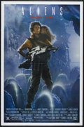 "Movie Posters:Science Fiction, Aliens (20th Century Fox, 1986). One Sheet (27"" X 41""). ScienceFiction Horror. Directed by James Cameron. Starring Sigourne..."