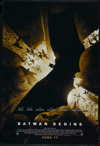 "Batman Begins (Warner Brothers, 2005). One Sheet (27"" X 41""). Advance. Directed by Christopher Nolan. Starring..."