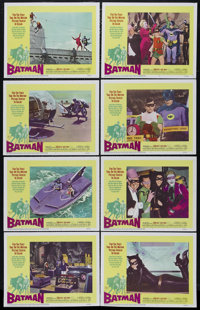 "Batman, The Movie (20th Century Fox, 1966). Lobby Card Set of 8 (11"" X 14""). Comic Book Adventure. Directed by..."