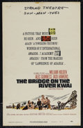 "Movie Posters:War, The Bridge On The River Kwai (Columbia, R-1963). Window Card (14"" X22""). War. Directed by David Lean. Starring William Hold..."