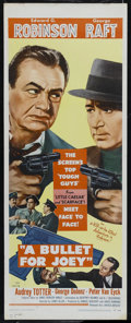 """Movie Posters:Film Noir, A Bullet for Joey (United Artists, 1955). Insert (14"""" X 36""""). Drama. Directed by Lewis Allen. Starring Edward G. Robinson, G..."""