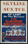 """Movie Posters:War, The Caine Mutiny (Columbia, 1954). Window Card (14"""" X 22""""). War.Directed by Edward Dmytryk. Starring Humphrey Bogart, José ..."""