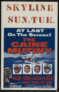 """The Caine Mutiny (Columbia, 1954). Window Card (14"""" X 22""""). War. Directed by Edward Dmytryk. Starring Humphrey..."""