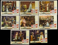 """Movie Posters:Adventure, The Crusades (Paramount, R-1948). Lobby Card Set of 8 (11"""" X 14"""").Historical Epic. Directed by Cecil B. DeMille. Starring L...(Total: 8)"""