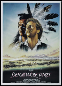 "Dances With Wolves (Orion, 1990). German Poster (23"" X 33""). Western. Directed by Kevin Costner. Starring Cost..."