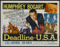 "Movie Posters:Crime, Deadline, U.S.A. (20th Century Fox, 1952). Half Sheet (22"" X 28"").Crime Thriller. Directed by Richard Brooks. Starring Hump..."