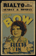 "Movie Posters:Comedy, The Fleet's In (Paramount, 1928). Window Card (14"" X 22""). Comedy.Directed by Malcolm St. Clair. Starring Clara Bow, James ..."