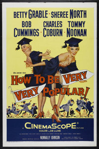 """How to Be Very, Very Popular (20th Century Fox, 1955). One Sheet (27"""" X 41""""). Comedy. Directed by Nunnally Joh..."""