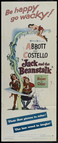 "Movie Posters:Comedy, Jack and the Beanstalk (Warner Brothers, 1952). Insert (14"" X 36""). Comedy. Directed by Jean Yarbrough. Starring Bud Abbott,..."