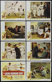 """The Jackie Robinson Story (Eagle Lion, 1950). Lobby Card Set of 8 (11"""" X 14""""). Sports Drama. Directed by Alfre..."""