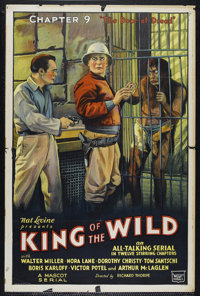 """King of the Wild: Chapter 9-The Door of Dread (Mascot, 1931). One Sheet (27"""" X 41""""). Serial. Directed by B. Re..."""