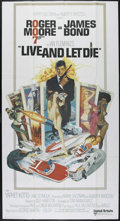 """Movie Posters:Action, Live and Let Die (United Artists, 1973). International Three Sheet (41"""" X 77""""). Spy Thriller. Directed by Guy Hamilton. Star..."""
