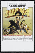 "Movie Posters:Adventure, Luana (Capital Productions, 1973). Mini Poster (9"" X 14"").Adventure. Directed by Bob Raymond. Starring Glenn Saxon, EviMar..."
