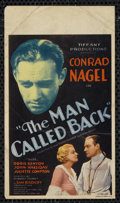"Movie Posters:Drama, The Man Called Back (World Wide, 1932). Midget Window Card (8"" X 14""). Drama. Directed by Robert Florey. Starring Conrad Nag..."