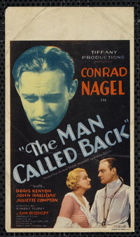 "The Man Called Back (World Wide, 1932). Midget Window Card (8"" X 14""). Drama. Directed by Robert Florey. Starr..."