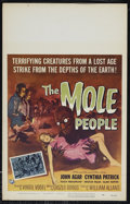 """Movie Posters:Science Fiction, The Mole People (Universal International, 1956). Window Card (14"""" X22""""). Science Fiction. Directed by Virgil Vogel. Starrin..."""