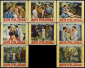 "Movie Posters:Adventure, Moon Over Burma (Paramount, 1940). Lobby Card Set of 8 (11"" X 14"").Romance Drama. Directed by Louis King. Starring Dorothy ... (Total:8)"