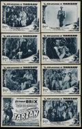 """Movie Posters:Serial, The New Adventures of Tarzan: Chapter 11-Death's Fireworks (Burroughs-Tarzan-Enterprise, 1935). Lobby Card Set of 8 (11"""" X 1... (Total: 8 Items)"""