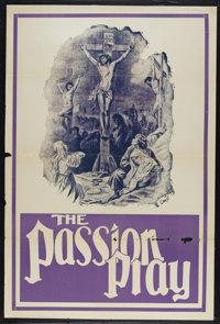 """The Passion Play (Edison, R-1930s). One Sheet (27"""" X 41""""). Drama. Directed by Henry C. Vincent. Starring Frank..."""