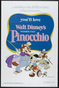 "Movie Posters:Animated, Pinocchio (Buena Vista, R-1978). One Sheet (27"" X 41""). Family.Directed by Walt Disney, Norman Ferguson, Wilfred Jackson, J..."