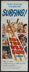 "Movie Posters:Sports, Ride the Wild Surf (Columbia, 1964). Insert (14"" X 36""). Comedy. Directed by Don Taylor. Starring Fabian, Shelley Fabares, T..."