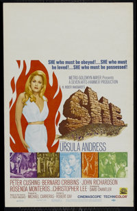 """She (MGM, 1965). Window Card (14"""" X 22""""). Adventure. Directed by Robert Day. Starring Ursula Andress, Peter Cu..."""