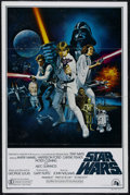 "Movie Posters:Science Fiction, Star Wars (20th Century Fox, 1977). One Sheet (27"" X 41""). Style C.Sci-Fi Adventure. Directed by George Lucas. Starring Mar..."