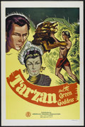 "Movie Posters:Adventure, Tarzan and the Green Goddess (Burroughs-Tarzan-Enterprise,R-1940s). One Sheet (27"" X 41""). Adventure. Directed by EdwardA...."